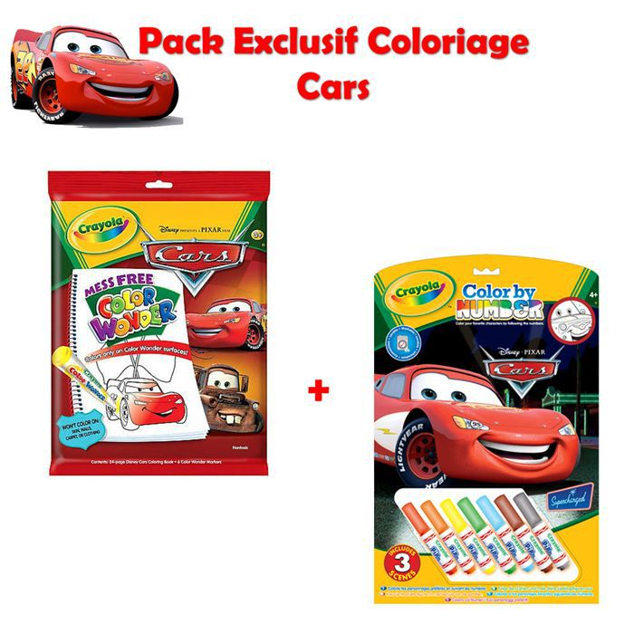pack exclusif coloriage cars achat vente kit de dessin pack exclusif coloriage cars cdiscount