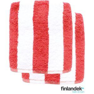 SERVIETTES DE BAIN FINLANDEK Lot de 2 draps de douche 70x140 cm rayés