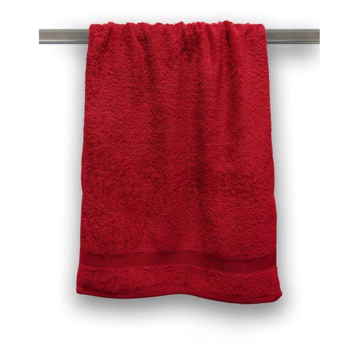 casatxu drap de douche rouge profond achat vente serviettes de bain cdiscount. Black Bedroom Furniture Sets. Home Design Ideas
