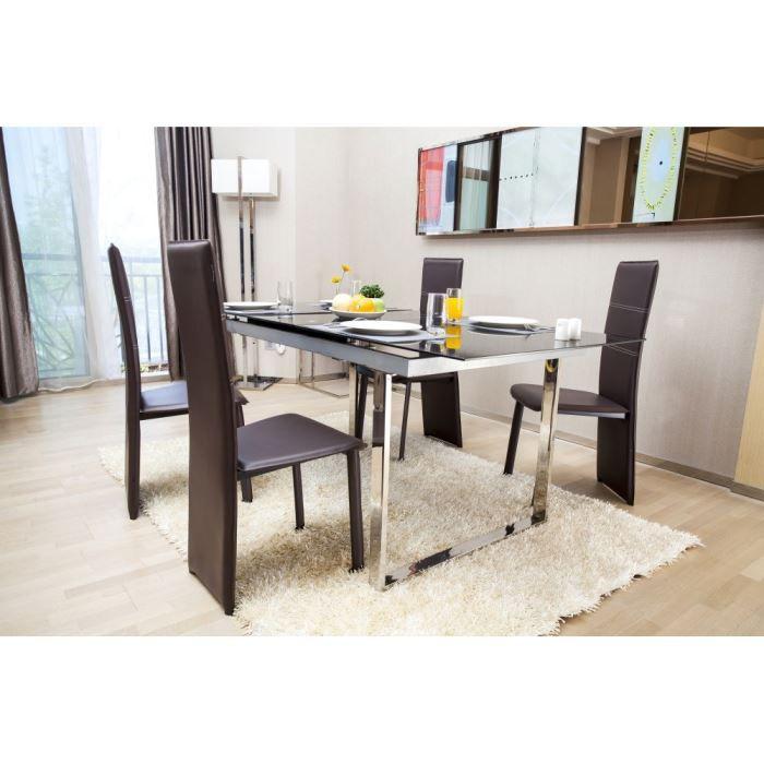 CHAISE TRACY Lot de 2 chaises de salle à manger