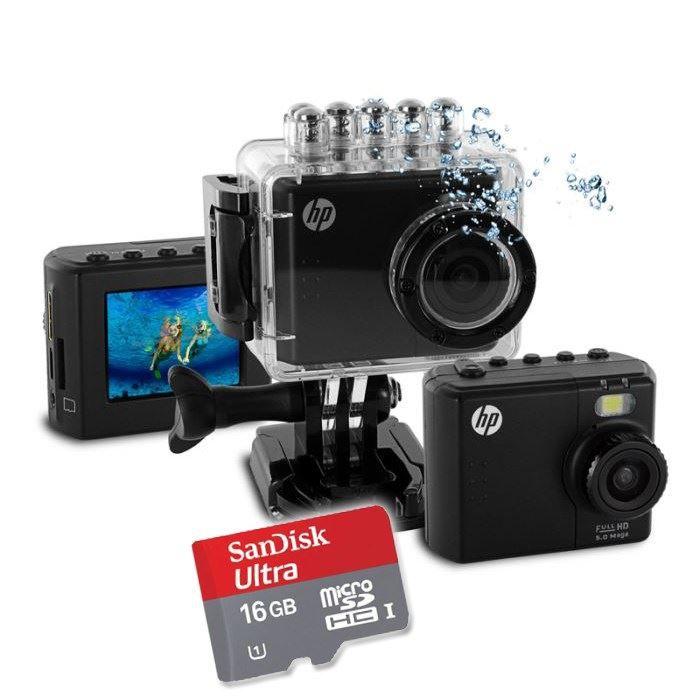 CAMÉRA SPORT HP AC-150 Caméra Sport + Carte Micro SD 16 Go
