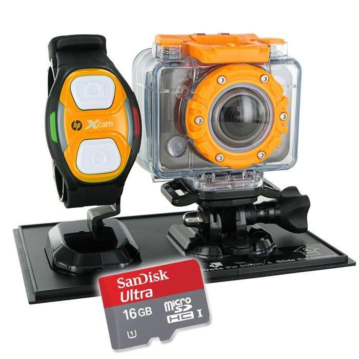 CAMÉRA SPORT HP AC-200W Caméra Sport + Carte Micro SD 16 Go