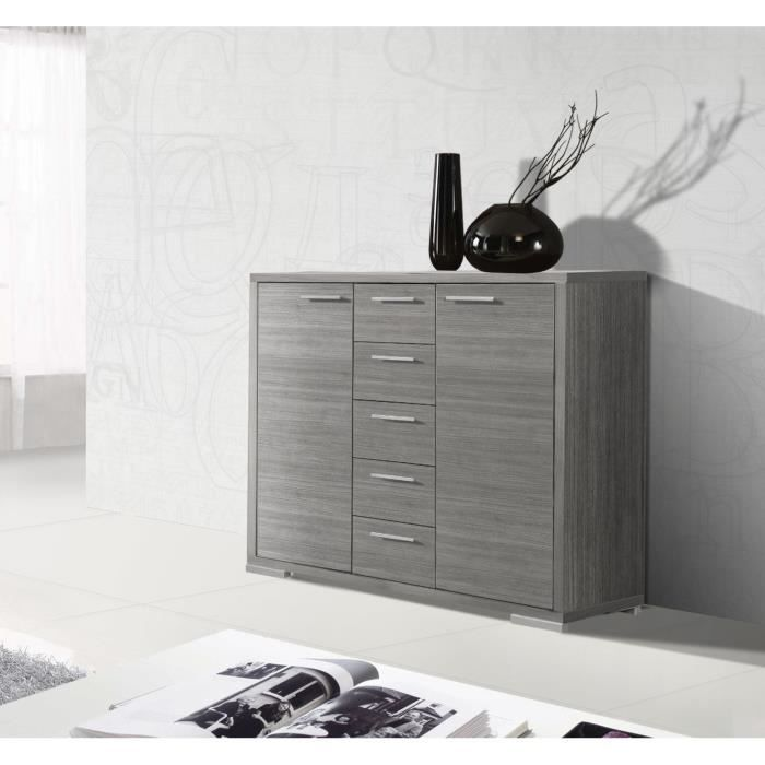 oslo buffet 110 cm ch ne gris achat vente buffet bahut oslo buffet 110 cm ch ne gris bois. Black Bedroom Furniture Sets. Home Design Ideas