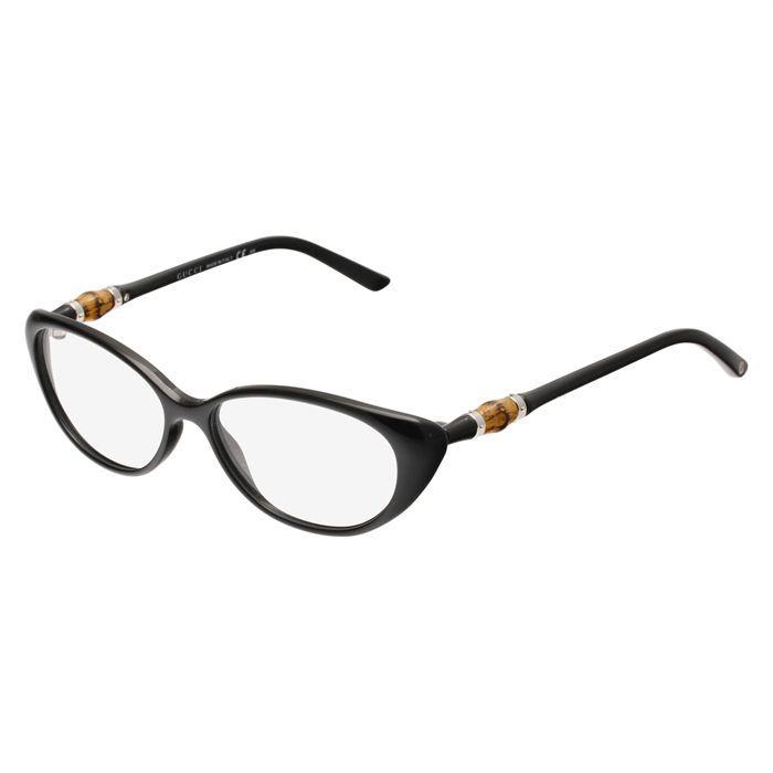 gucci monture de lunettes de vue femme noir achat vente lunettes de vue gucci monture de vue. Black Bedroom Furniture Sets. Home Design Ideas