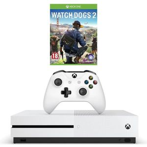 CONSOLE XBOX ONE NOUV. Xbox One S 500Go + Watch Dogs 2 Jeu Xbox One