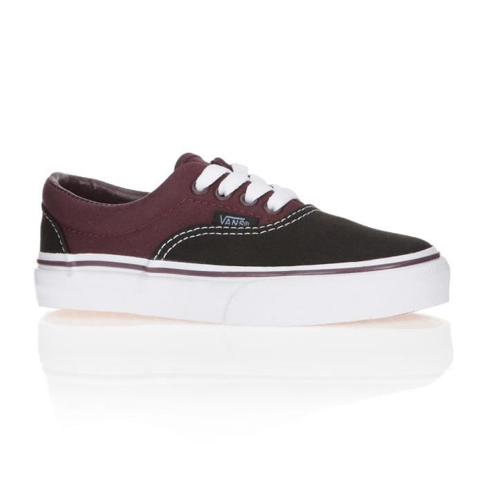 vans baskets era enfant fille noir et violet achat vente basket cdiscount. Black Bedroom Furniture Sets. Home Design Ideas