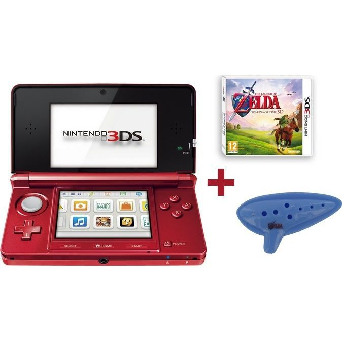 3ds rouge metal zelda ocarina of time fl te achat vente console ds pack 3ds rouge zelda - Ocarina of time 3ds console ...