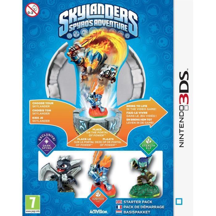JEU 3DS Pack de Démarrage Skylanders Spyro's Adventure 3DS