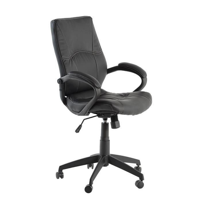 Embassy fauteuil bureau noir achat vente chaise de - Achat fauteuil de bureau ...