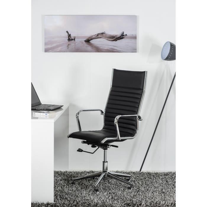 Milano boss fauteuil de bureau design noir achat vente chaise de bureau - Fauteuil de bureau boss ...