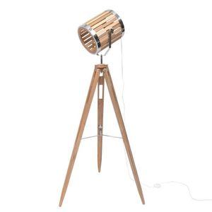 LAMPADAIRE SPOT lampadaire pieds bois abj bois/métal