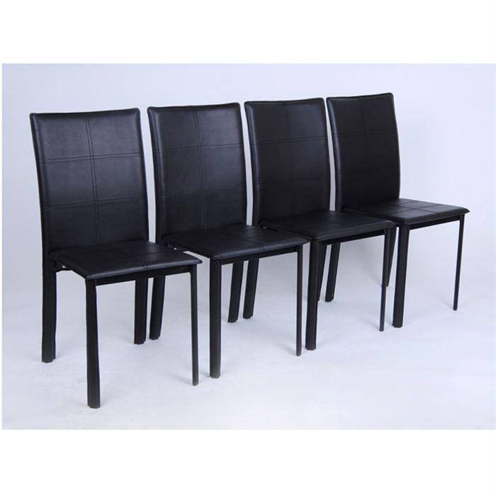 lot de 4 chaises. Black Bedroom Furniture Sets. Home Design Ideas