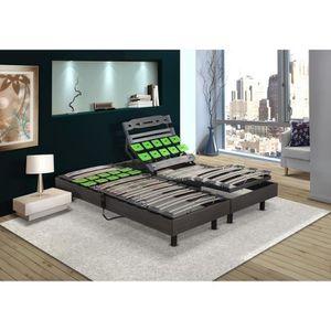 sommier electrique 90x200 achat vente sommier electrique 90x200 pas cher cdiscount. Black Bedroom Furniture Sets. Home Design Ideas