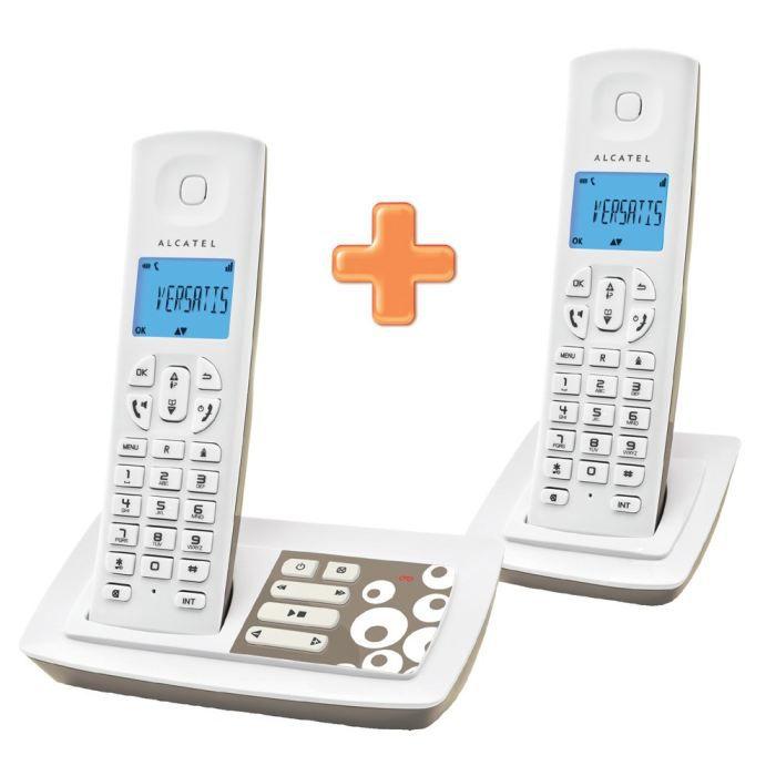 alcatel versatis e150 voice duo achat t l phone fixe pas cher avis et meilleur prix cdiscount. Black Bedroom Furniture Sets. Home Design Ideas