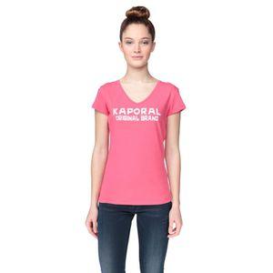 T-SHIRT KAPORAL 5 T-Shirt Duale Rose et Blanc Femme