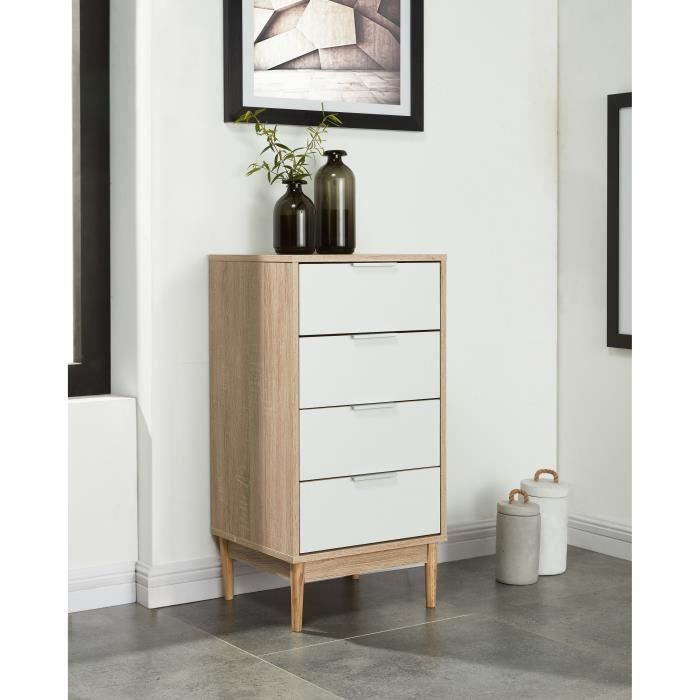 Charlotte commode chambre adulte style contemporain pieds - Commode chambre adulte ...
