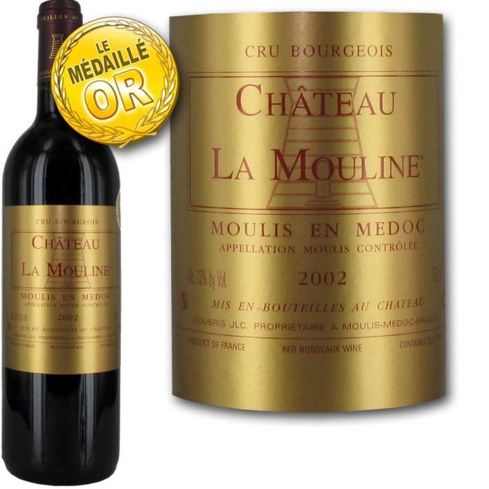 VIN ROUGE Château La Mouline Moulis Cru Bourgeois 2002