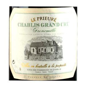 """Chablis Grand Cru Grenouilles """"Le Prieuré"""" 2007 x1"""