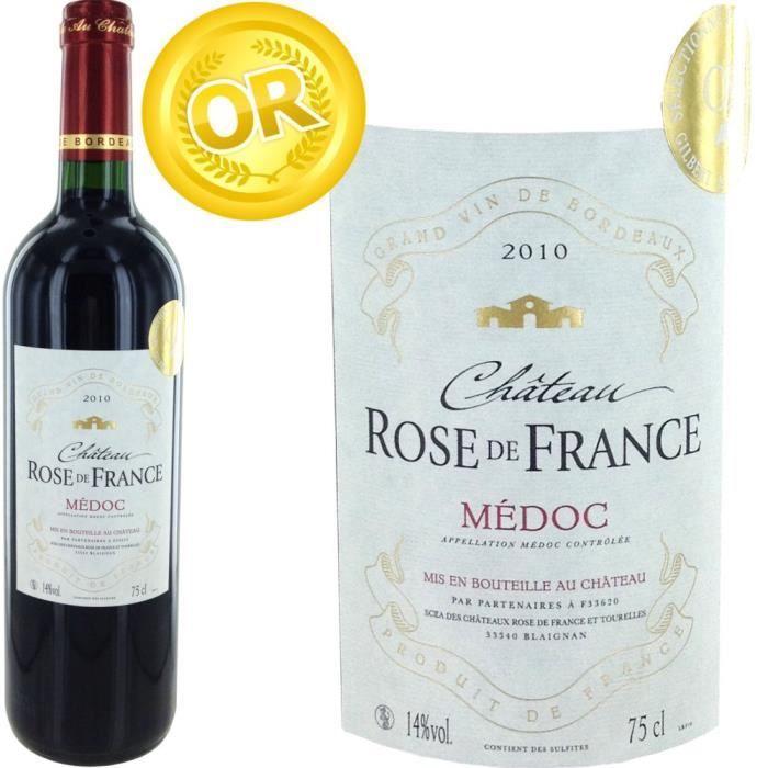 ch teau rose de france 2010 m doc vin rouge x1 achat vente vin rouge ch rose de france 2010. Black Bedroom Furniture Sets. Home Design Ideas