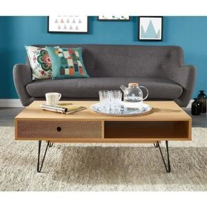 Table chene metal achat vente table chene metal pas for Table scandinave soldes