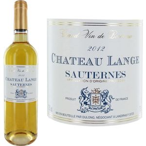 VIN ROUGE Château Lange Sauternes 2012 - Vin blanc x1