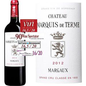 VIN ROUGE Château Marquis de Terme Margaux Cru Classé 2012 -