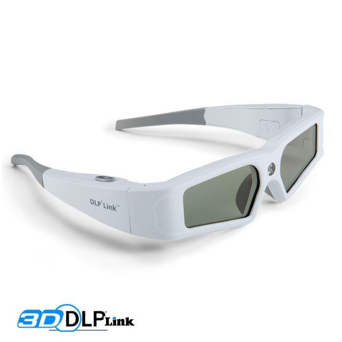 Lunettes 3D actives Technologie 3D DLP Link Compatible avec les