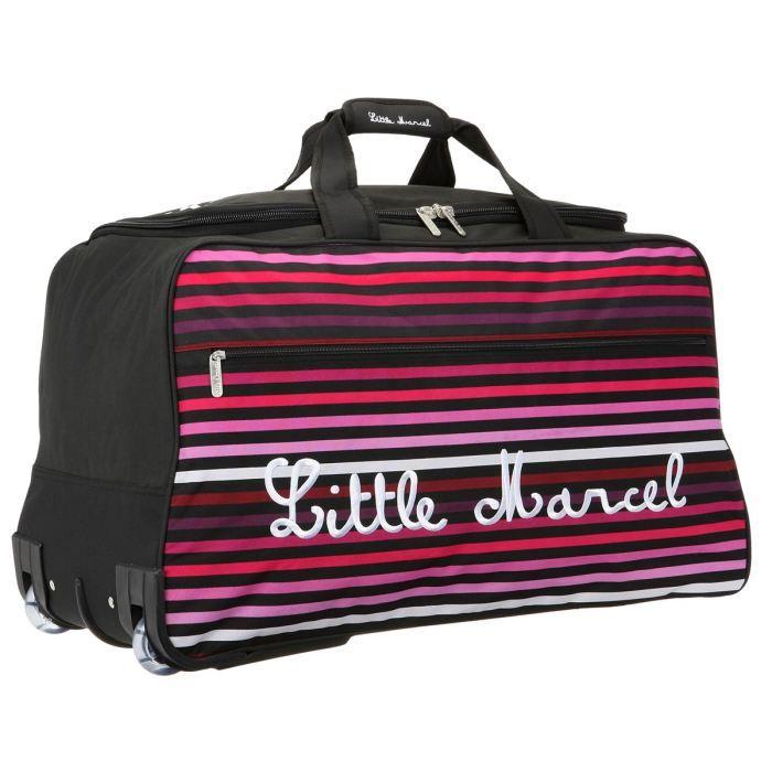 little marcel sac de voyage trolley martine noir rose et fuschia achat vente sac de voyage. Black Bedroom Furniture Sets. Home Design Ideas