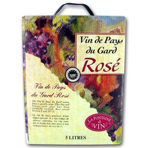 VIN ROSÉ Vin de Pays du Gard rosé BIB® 5L