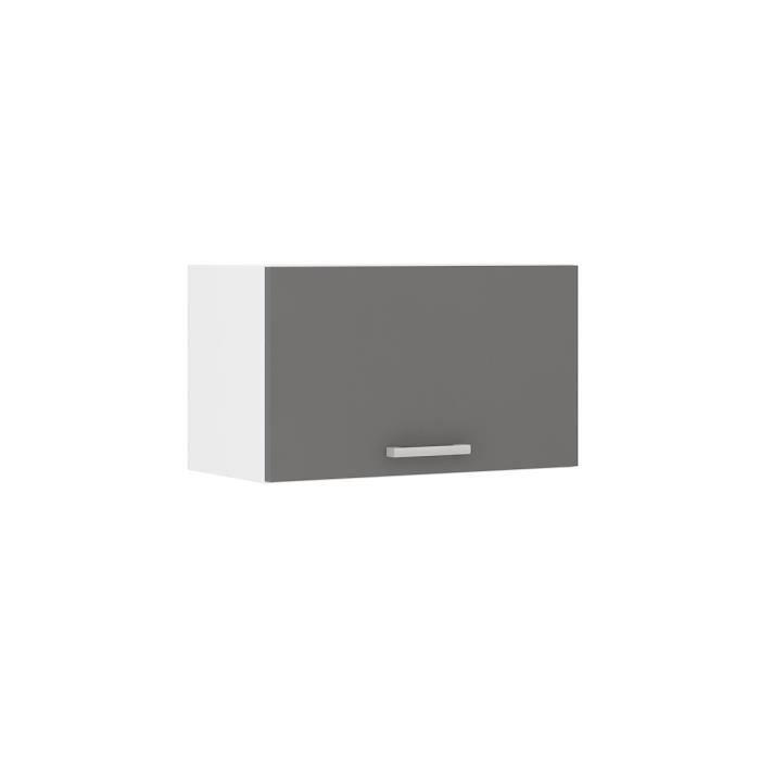 Ultra meuble hotte de cuisine 60 cm gris achat vente for Meuble cuisine gris mat