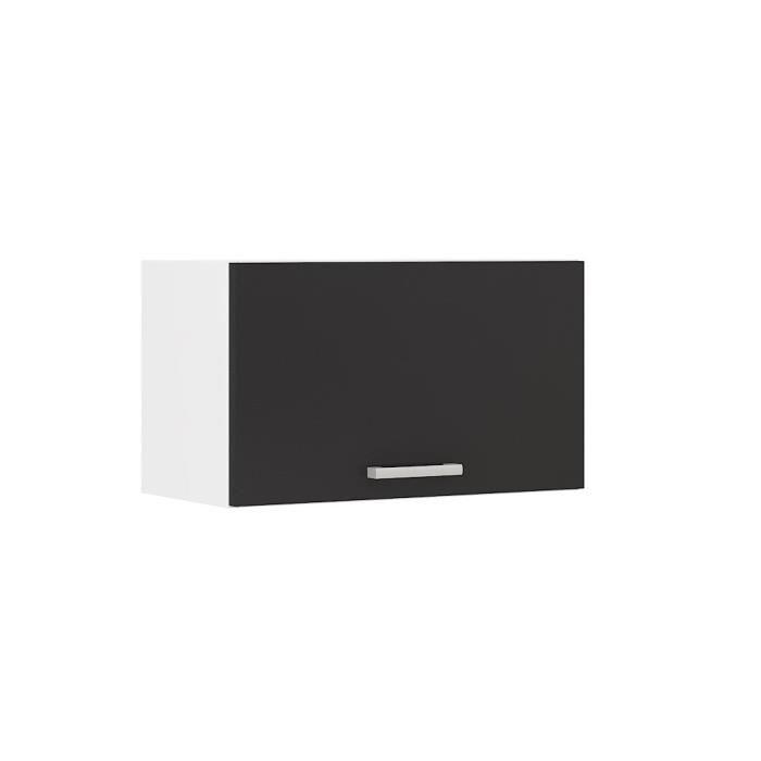 alceo meuble hotte 60 cm noir achat vente l ments. Black Bedroom Furniture Sets. Home Design Ideas