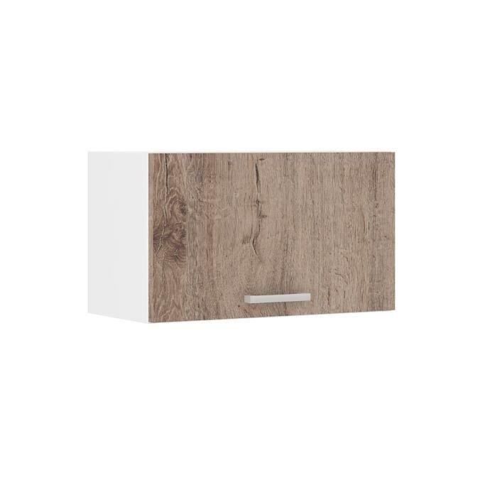 Ultra meuble hotte de cuisine 60 cm d cor ch ne fonc - Hotte de cuisine 60 cm ...