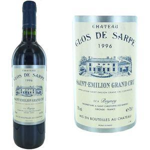 VIN ROUGE Château Clos de Sarpe Saint Emilion Grand Cru 1996
