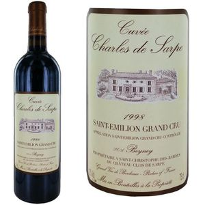 VIN ROUGE Château Clos de Sarpe 1998 - Cuvée Charles de Sarp
