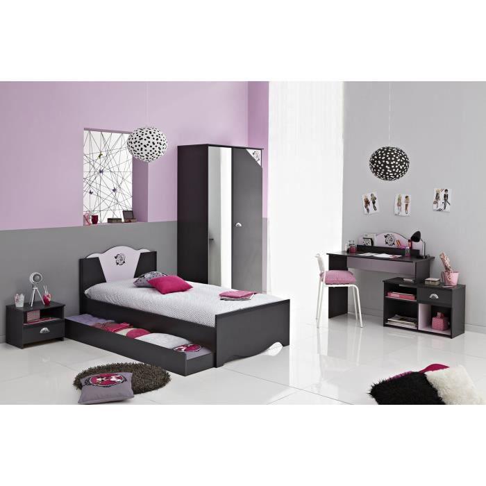 rock ensemble chambre enfant gris ombre rose achat. Black Bedroom Furniture Sets. Home Design Ideas