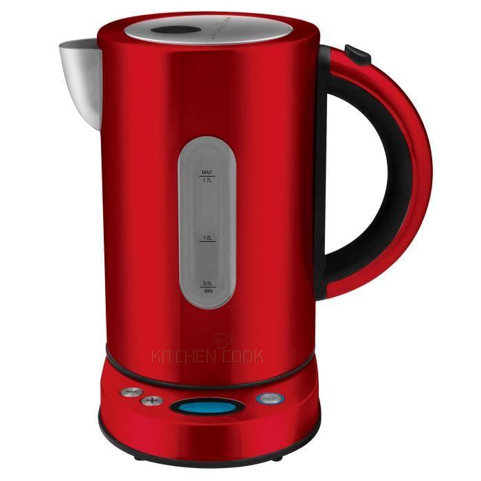 kitchencook bouilloire rouge coffntea red achat vente bouilloire lectrique cdiscount. Black Bedroom Furniture Sets. Home Design Ideas