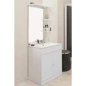 Meuble sous lavabo achat vente meuble sous lavabo pas - Meuble salle de bain bois blanc ...