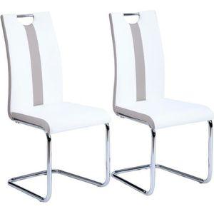 Chaises design blanche lot de 2 achat vente chaises - Lot de chaises design pas cher ...