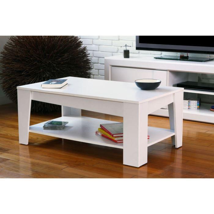 calanque table basse papier d cor blanc l100 cm achat vente table basse calanque table basse. Black Bedroom Furniture Sets. Home Design Ideas
