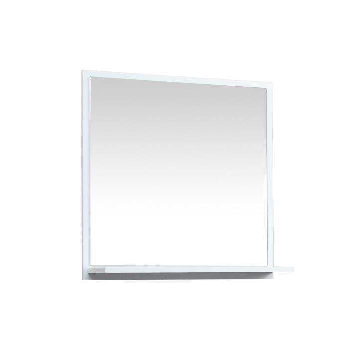 bani miroir avec tablette blanc achat vente miroir. Black Bedroom Furniture Sets. Home Design Ideas