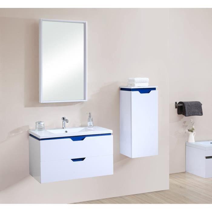 Aura set salle de bain bleu achat vente ensemble - Meuble de salle de bain bleu ...