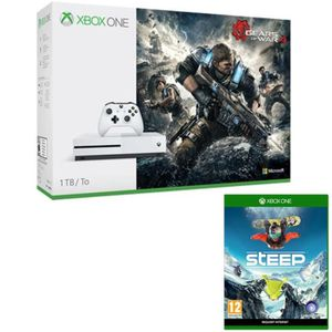 CONSOLE XBOX ONE NOUV. Xbox One S 1To + Gears of War 4 + Steep