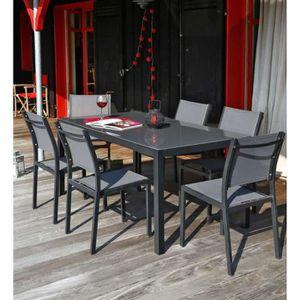 Salon de jardin alu achat vente salon de jardin alu for Table et chaises 6 personnes
