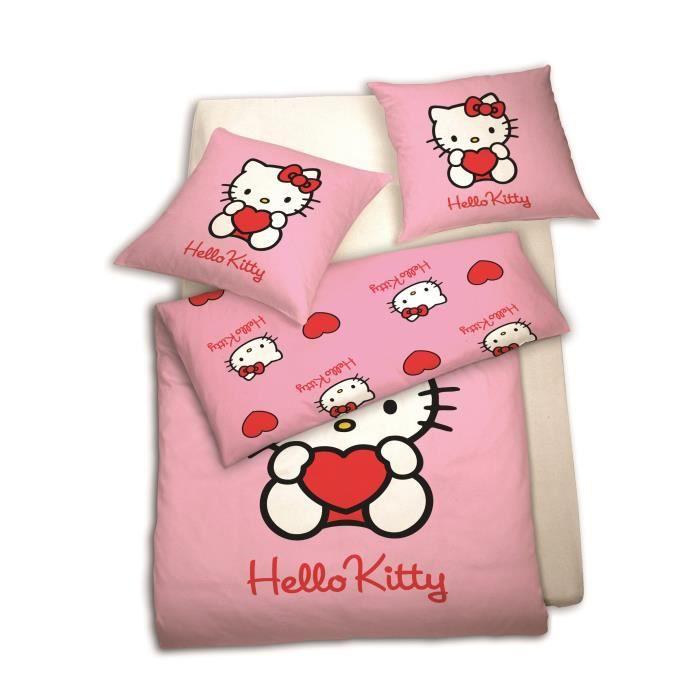 Parure de lit enfant les bons plans de micromonde - Housse de couette hello kitty 220x240 ...