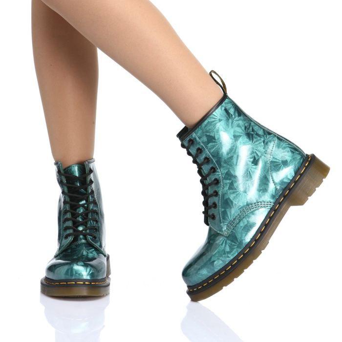 bottes vertes femme pas cher