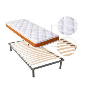 lit 90 avec sommier et matelas achat vente lit 90 avec sommier et matelas pas cher soldes. Black Bedroom Furniture Sets. Home Design Ideas