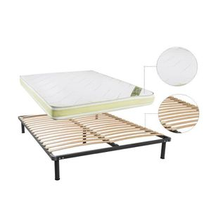 ensemble sommier et matelas 140x200 achat vente ensemble sommier et matel. Black Bedroom Furniture Sets. Home Design Ideas