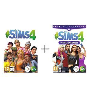 JEU PC Sims 4 Jeu PC + Sims 4 : Vivre Ensemble Jeu PC