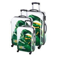 BULLROT Set 3 valises trolley double 4 roues