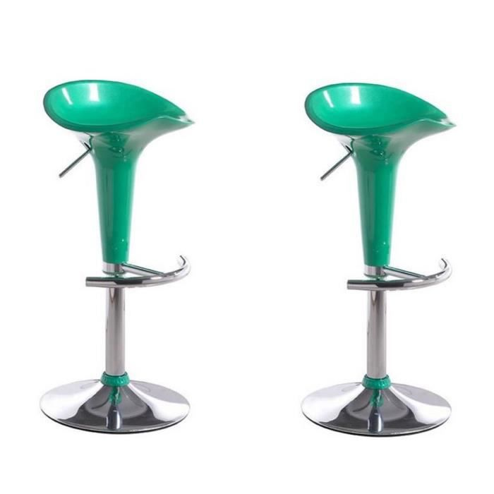 lot de 2 tabourets de bar pop vert achat vente. Black Bedroom Furniture Sets. Home Design Ideas